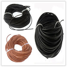 3mm Fashion Real Round Leather Cord Jewelry Bracelet Necklace Making String