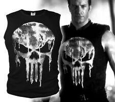 Lycra Cool MenT- shirt The Punisher Skull T Shirt Slim Black O-Neck Short Sleeve