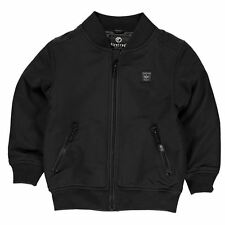 Firetrap Childrens Bomber Jacket Boys Warm Ribbed Zipped Overcoat Clothing