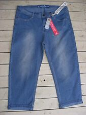 RIVERS 3/4 Casual PANTS. Stretch Denim. ROLL-UP Leg Cuff. Size 16 NEW rrp$59.95