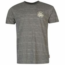 Lee Cooper Mens Gents Textured Small Logo T-Shirt Crew Short Sleeve Top Clothing