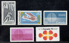 CANADA 486, 494, 513-4 & 541 LOT 5 1968-71 MINT NEVER HINGED HIGH VALUE STAMPS