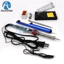 9 in 1 Electric Soldering Iron Starter Tool Kit Set With Iron Stand Solder