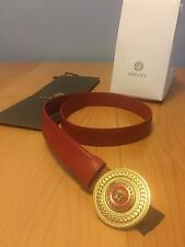 100% Authentic Versace Black or Red Belt Circle Brand New With Tags