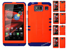 KoolKase Hybrid Cover Case for Motorola Droid Razr Maxx HD XT926m - Neon Orange