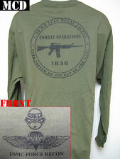 USMC FORCE RECON LONG SLEEVE T-SHIRT/ MCD/ IRAQ COMBAT OPS T-SHIRT/ MCD