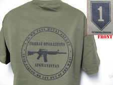 1ST INFANTRY DIVISION AFGHANISTAN OPERATION T-SHIRT