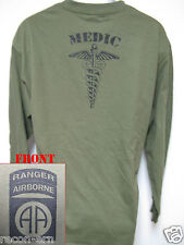 82nd AIRBORNE RANGER LONG SLEEVE T-SHIRT/  MEDIC/ MILITARY/ ARMY/    NEW