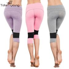 S-XL Womens Stretch Yoga Sports Leggings Running Workout Fitness Gym Capri Pants