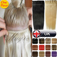 AAAAAA+ Clip in Remy Real Human Hair Extensions One Piece 80/90/100/110G UK U655