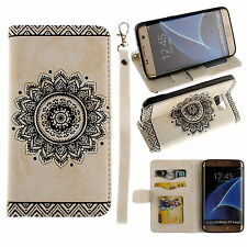 Luxury Leather Filp Stand Card Wallet Case Cover For Samsung Galaxy S6 S7 edge