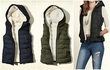 NEW HOLLISTER By ABERCROMBIE WOMEN POINT MUGU SHERPA LINED VEST JACKET,sizeS,M.