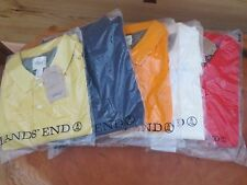 NWT Lands End Canvas Mens Close Fit 100% Cotton Pique Polo Shirt S,M,L,XL