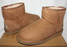 UGG Women's Classic Mini Chestnut Suede boots New With Box!
