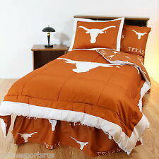 Texas Longhorns Comforter Sham and Sheet Set Twin Full Queen King Size