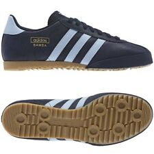 ADIDAS ORIGINALS BAMBA TRAINERS BLUE NAVY SIZES 7 - 12 NEW BNWT SNEAKERS SHOES