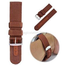 Mens Military Nylon Canva Watch Band Strap Steel Buckle Wrist Watch Band 18-24mm