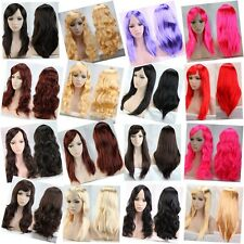 Multiple Rainbow Party Costume Full Wigs Long Curly Straight Breathable Wig USA