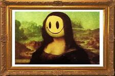 Stretched Mona Lisa Smile Canvas Print by Banksy Graffiti Street Art *Assorted*