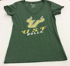 NCAA Womens Colosseum Athletics University of South Florida V-Neck T-Shirt Green