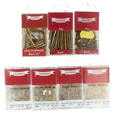 Banner gold coloured screws TT CSK Pozi EB available in a variety of sizes