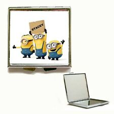 New Heart / Square Despicable Me Minion Personalised Compact Make Up Mirror Gift