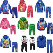 Baby Kid Boy Girl Fleece Fall winter Hoodies Hoodie Tracksuit Coat Pants Suits
