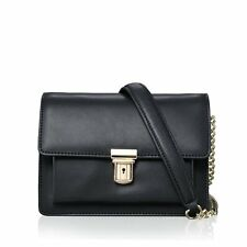 REAL GENUINE Leather Box Clutch Purse Crossbody Messenger Shoulder Bag Handbag