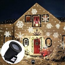Outdoor Moving LED Snowflake Laser Light Projector Lamps Xmas Party Garden Decor
