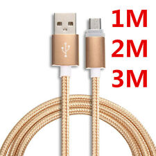 1-3M Over 2A Quick Charger Micro USB A to USB 2.0 B Braided Data Charging Cable