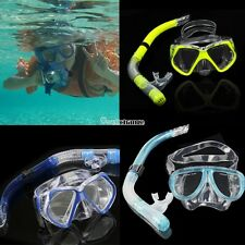 Scuba Gear Diving Equipment Snorkeling Dry Snorkel Set Dive Mask Silicone Goggle