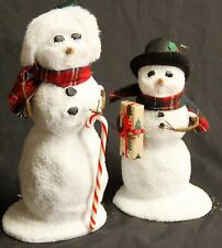 Byers Choice Snowman with Candy Cane & Snowman with Present  - New 2016 - U Pick