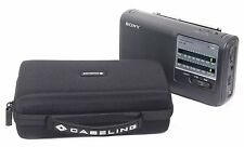 Sony ICF38 Portable AM/FM Radio Hard CASE Clear Sound Speaker Batteries Included