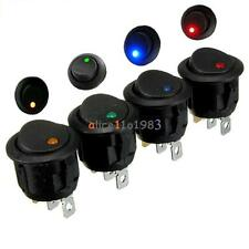 12V Round Rocker Led Illuminated ON/OFF SPST Switch For Car VAN Dash Boat Light