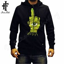 "IRON FIST men's sweatshirt Hoodie NEW ""Zombie Hand"" BLK Mens NEW Skate ZIP Hood"