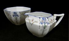 ART DECO Shelley 'Queen Anne' Blue Iris coffee size jug and bowl