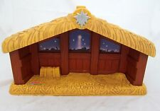 Empty Nativity Fisher-Price Little People Christmas Story Manger Toy Barn Stable