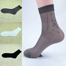 10 Pairs Men Bamboo Charcoal High Ankle Sock Pure Color Sheer Dress Causal socks