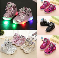 UK Kids Children LED Shoes Flashing Girls Light Shoes Sneakers Trainers All SIZE