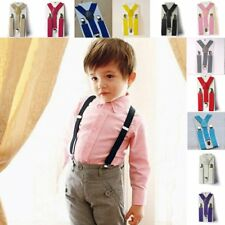 Fashion Kids Boy Girls Toddler Clip-on Suspenders Elastic Adjustable Braces A++