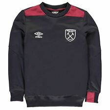 Umbro West Ham United FC Sweatshirt Juniors Football Soccer Top Sweater Pullover