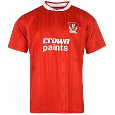 Liverpool FC 1987 Home Jersey Score Draw Mens Red/Wht Retro Football Soccer Top