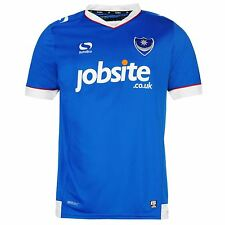 Sondico Portsmouth FC Home Jersey 2016 2017 Mens Blue/White Football Soccer Top
