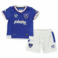 Sondico Portsmouth Home 2016 2017 Mini Kit Childs Football Soccer Jersey Shorts