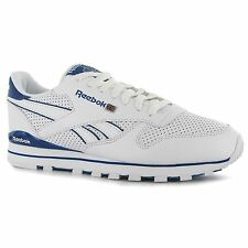 Reebok Classic Leather Clip Performance Mens Shoes Trainers Wht/Blu Sneakers
