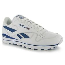 Reebok Classic Leather Clip Mens Shoes Trainers Wht/HandyBlu Sneakers Footwear