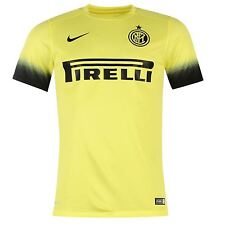 Nike Inter Milan 3rd Jersey 2015 2016 Mens Yellow/Black Shirt Football Soccer