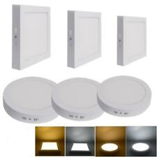 Bright 6/12/18/24W LED Panel Recessed Ceiling Down Light Lamp Warm WHT Bulb Kit