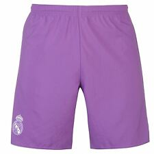 Adidas Real Madrid Away Shorts 2016 2017 Mens Purple Football Soccer