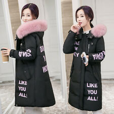 Winter Women thick Jacket Long Down Jacket Padded Coat Ladies Hooded Parka